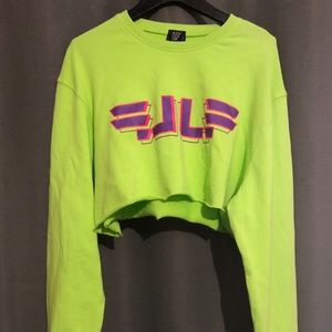 LF the brand neon cropped sweatshirt